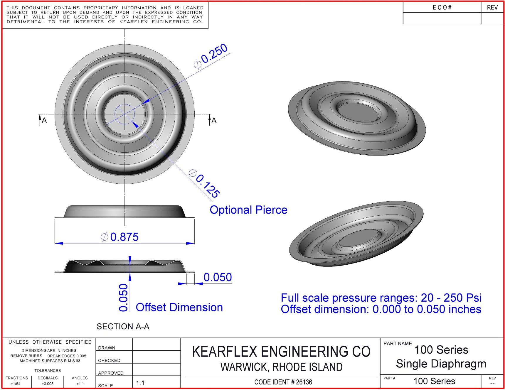 100 Series Single Diaphragm