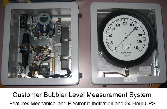 Customer Bubbler Level Measurement System