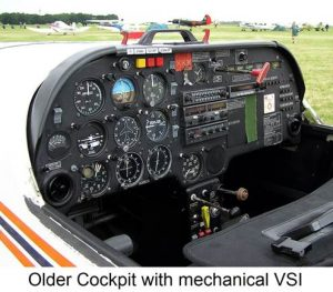 Older Cockpit with Mechanical VSI