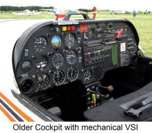 Older Cockpit with Mechanical VSI