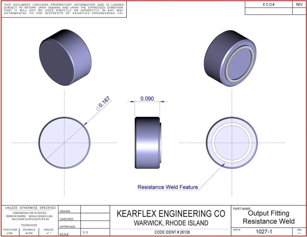 Output Fitting Resistance Weld