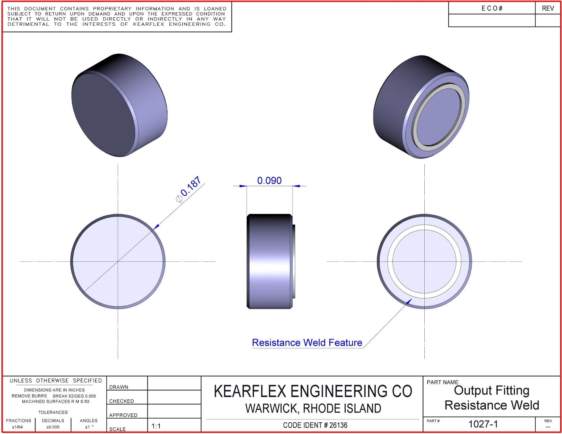Sample Fittings Kearflex Engineering Resistance Welding Diagram Output Fitting Weld